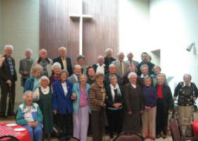 Elderly Congregation of Geneva Presbyterian Church in Modesto, CA