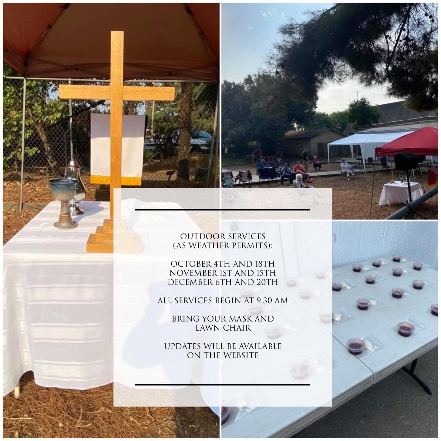 Geneva Presbyterian Church Outdoor Services Information for Covid-19